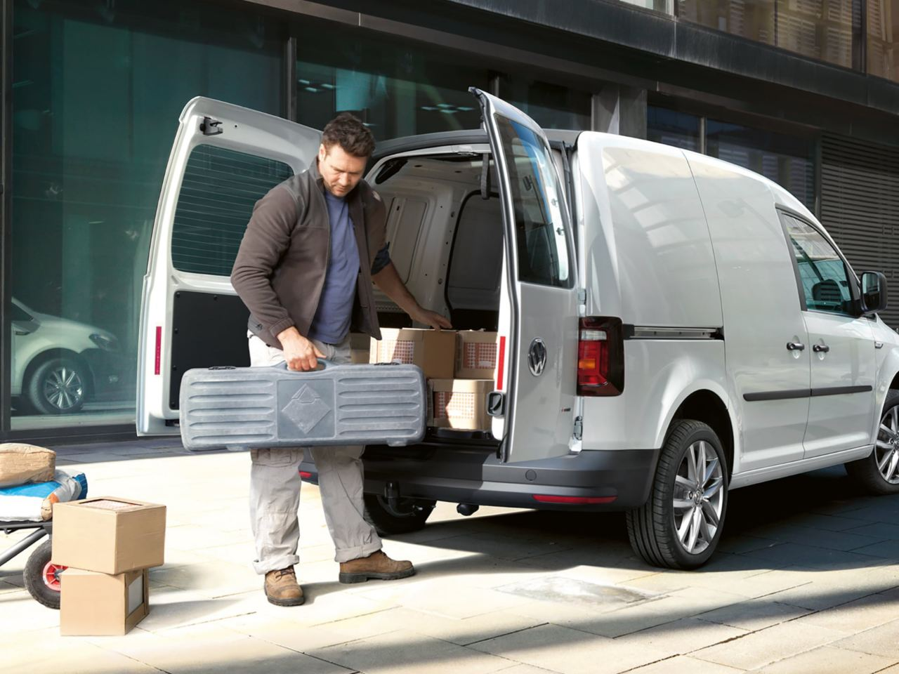 Cdc0700 Vw Caddy Commercial Delivery Van Loading Compartment